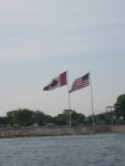 Flags at Port Huron