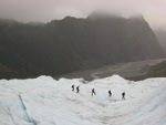 Looking down the glacier