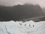 Looking down the glacier