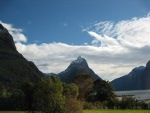 Mitre Peak from the carpark