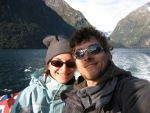 Cris and David in Milford Sound