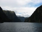 Heading back up Milford Sound